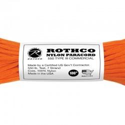 Paracorde 550 Rothco Nylon Paracord orange
