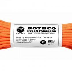Rothco Nylon Paracord orange 15 mètres de paracorde