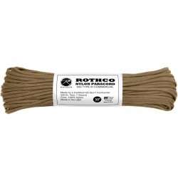 Paracorde 550 coyote 15 m Rothco Nylon Paracord