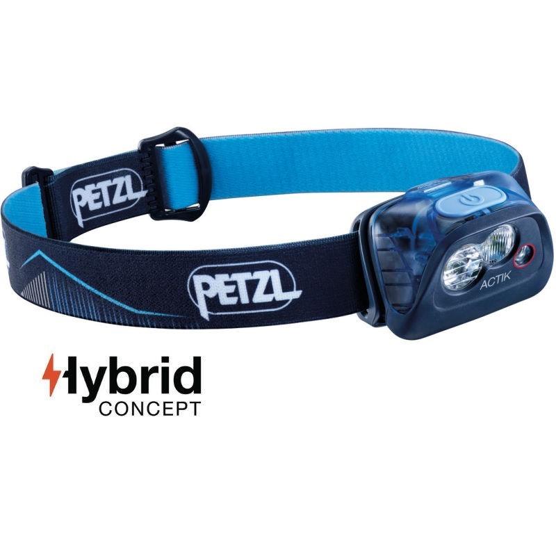 Lampe Petzl Actik Hybrid bleue