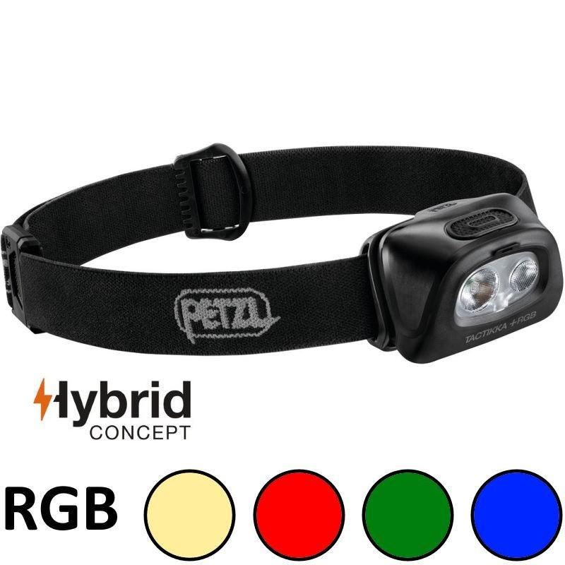 Lampe frontale Petzl Tactikka Plus RGB noire