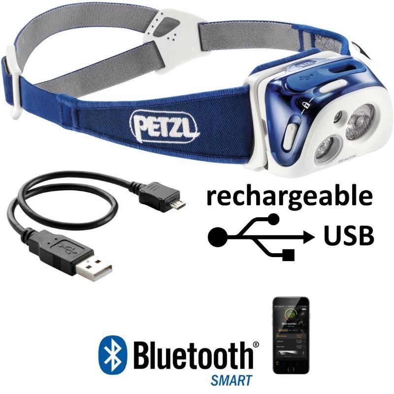 Lampe frontale Petzl Reactik bleue