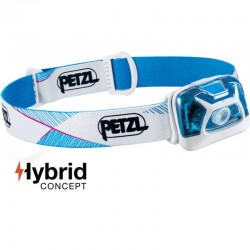 Lampe Petzl Tikka Hybrid bleue et blanche