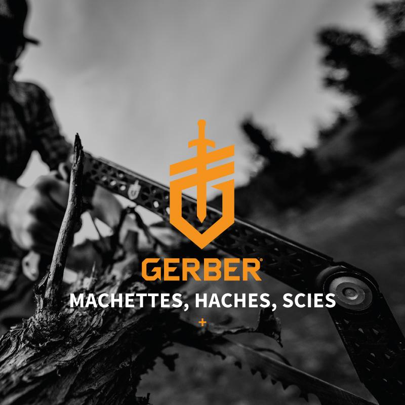 Toutes les machettes, haches et scie de la marque Gerber