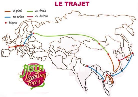 Itinéraire de nos aventuriers