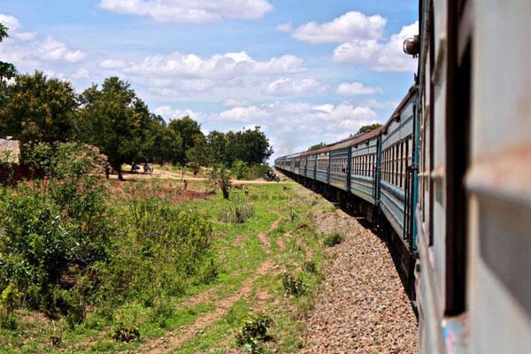 Le train conduit nos deux aventurières des terres de Tanzanie jusque dans les terres du Malawi