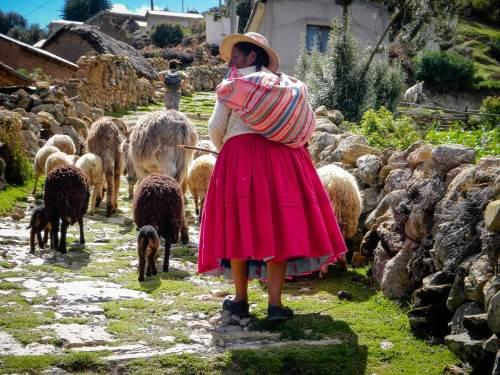 Léa et Lili empruntent les fameuses routes incas des abords du lac Titicaca