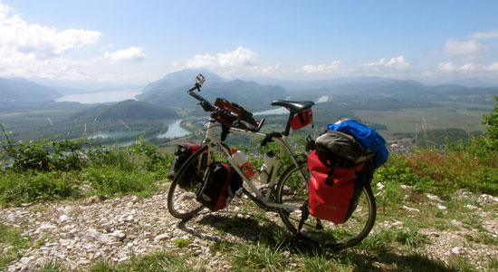 Le vélo utilisé par Olivier Godin au cours de sa nouvelle aventure