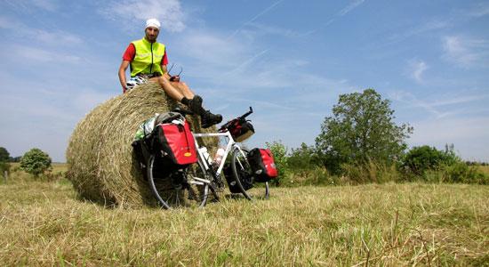 Olivier Godin arrive à mi-chemin entre les Vosges et le Jura
