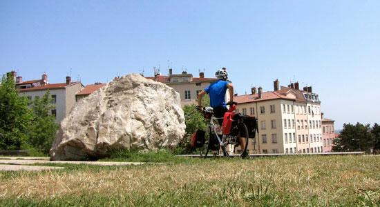 Notre aventurier a effectué sa première boucle en vélo