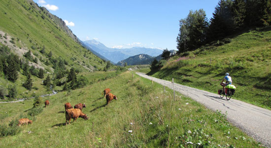 Notre aventurier se dirige droit vers le Mont-Blanc